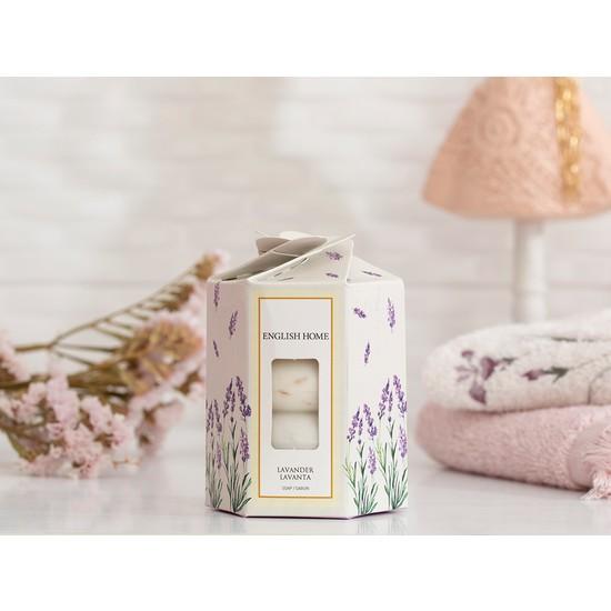English Home Lavanta Özlü Katı Sabun 4 x 45 gr Beyaz