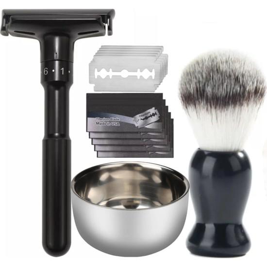 Qualis Shave Q7 Tıraş Makinesi + Fırça + Kase + 5 Adet Jilet