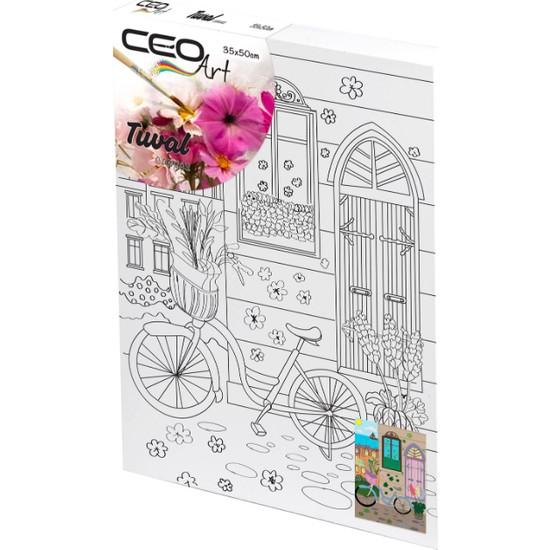 Ceo Art Desenli Tuval 35 x 50 cm Bisiklet