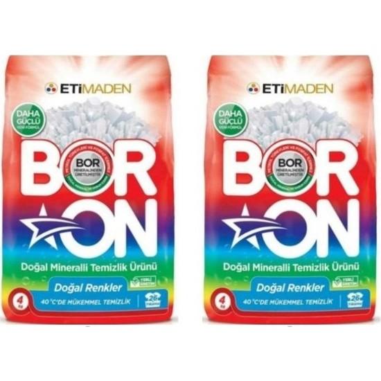 Boron Doğal Mineralli Temizlik Ürünü Renkliler İçin 4 kg x 2 Adet
