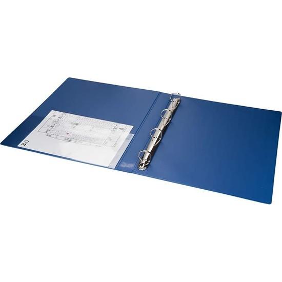 2k Kaymaz 227M A4 Pvc Klasör Mavi 3 cm 4 Halkalı