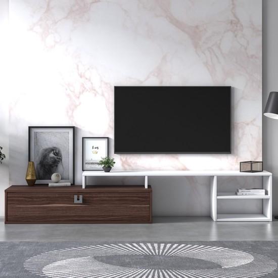 Ruum Store By Doğtaş Optımo Tv Ünitesi Victoria Ceviz Beyaz