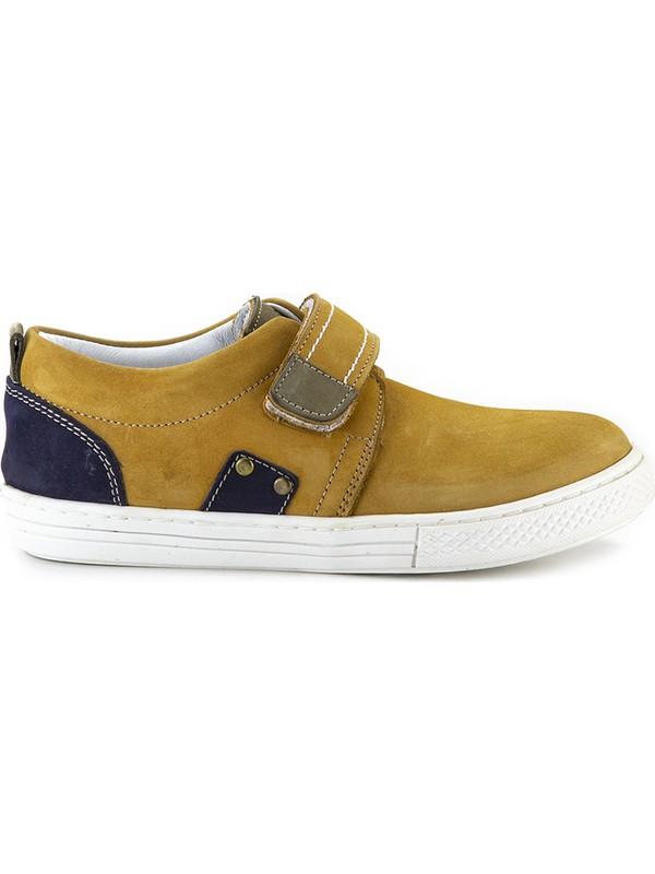 Minipicco Erkek Çocuk Sarı Deri Ayakkabı