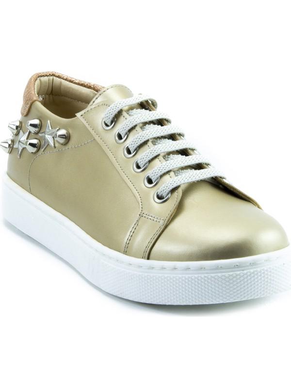 Minipicco Kız Çocuk Altın Ayakkabı