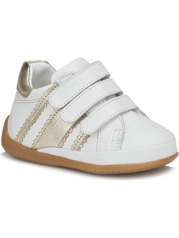 Vicco April Kız İlk Adım Beyaz/Altın Günlük Ayakkabı