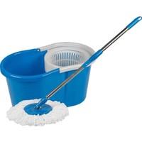 Primax Döner Sistemli Yıkama ve Kurutma Hazneli Mop Temizlik Seti Mavi