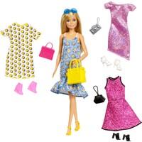 Barbie'nin Kıyafet Kombinleri Oyun Seti, 4 Farklı Kombin ve Aksesuar GDJ40