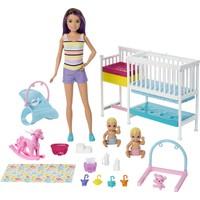 Barbie Bebek Bakıcısı Skipper Uyku Eğitiminde Oyun Seti, Bebekler, Mobilyalar ve 10'dan Fazla Parçadan Oluşur GFL38
