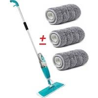 Scratch Anet Sprey Mop Deterjan Hazneli Mikrofiber Paspas Yer Fayans Duvar Banyo Mutfak Temizleyici Sprey Tablet Mop + 3 Yedek Bez