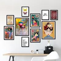 Bc Home 10 Parça Çerçeveli Poster Tablo Seti