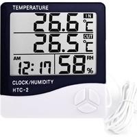 Joytech Htc-2 Dijital Termometre Higrometre Sıcaklık Nem Ölçer - Bebek Odası Masa Saati
