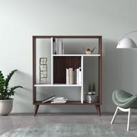 Ruum Store By Doğtaş Norm Modern Tasarım Kitaplık Ceviz Opak Beyaz