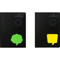 Faber-Castell Neon2 Spiralli Defter 80 Yaprak A4 Kareli 2'li
