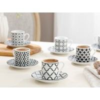 English Home Rio Porselen Kahve Fincan Takımı 80 ml Siyah