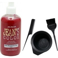 Acacia Jeans Color Saç Boyası Pembe 250ml ve Saç Boya Kabı Seti