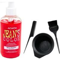 Acacia Jeans Color Saç Boyası Gül Kurusu 250ml ve Saç Boya Kabı Seti