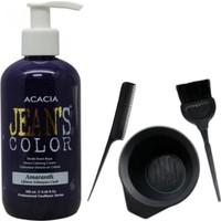 Acacia Jeans Color Saç Boyası Eflatun 250ml ve Saç Boya Kabı Seti