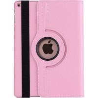 MobaxAksesuar Apple İpad Pro 12.9 3.Nesil Kılıf 360 Dönebilen Standlı Case A1876 A2014 A1895 A1983 Açık Pembe
