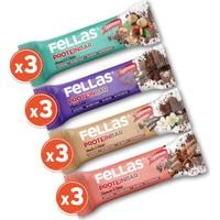 Fellas Protein Bar 32 gr Karma Kutu 12 Adet (4 Çeşit)