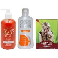 Acacia Jeans Color Saç Boyası Turuncu 250ml ve Boya Temizleyici ve Saç Açıcı