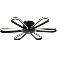 Avize Moda Mattone 6'lı LED Plafonyer Avize - Siyah