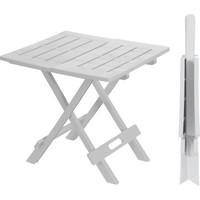 Sabanbaba Ev Bahçe Plastik Beyaz Katlanabilir Piknik Masası