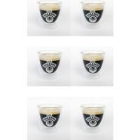 Cafe Valente Termo Cam Espresso Bardağı 6 ad 80 cc