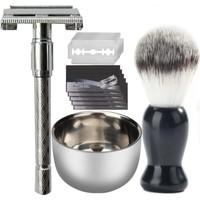 Qualis Shave Y5 Tıraş Makinesi + Fırça + Kase + 5 Adet Jilet
