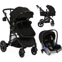 Yoyko Ultimate Travel Sistem Bebek Arabası 3 in 1 Siyah Siyah