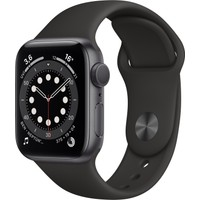 Apple Watch Seri 6 40mm GPS Space Gray Alüminyum Kasa ve Siyah Spor Kordon MG133TU/A