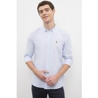 U.S. Polo Assn. Erkek Mavi Gömlek Uzunkol 50231305-VR036
