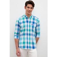 U.S. Polo Assn. Erkek Yesıl Gömlek Uzunkol 50219626-VR054
