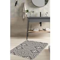 Hamur Retro 75x125 cm Banyo Paspası Kaymaz Taban Banyo Halısı
