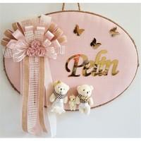 Baby Lüks Ayıcıklı Bebek Odası Kapı Süsü Kişiye Özel