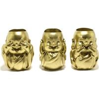 Propixel 3 Bebek Buddha Kaktüs Sukulent Saksı 3lü Set 9 cm -7.5 cm - 5 cm