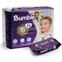 Bumble 6 Numara X-Large Bebek Bezi Ikiz Paket+Bumble Baby Islak Mendil Hediyeli