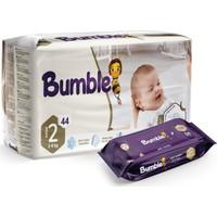 Bumble 2 Numara Mini Bebek Bezi Ikiz Paket+ Bumble Baby Islak Mendil Hediyeli