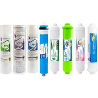 LG Açık Kasa Su Arıtma Filtresi 8'li Set Aşamalı Alkali Detoks Mineral