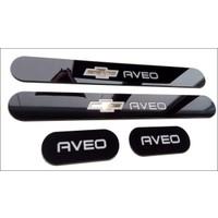 Chevrolet Aveo 2012 ve Sonrası Modele Uyumlu Pleksi Kapı Basamak Eşiği Takımı (4 Adet)
