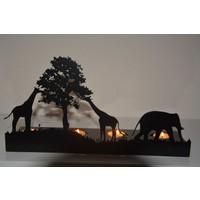 Pnr Quadruble Elephand Metal Mumluk Şamdan