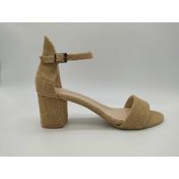 Rima Tek Bant Hasır 6 cm Topuklu Kadın Ayakkabı