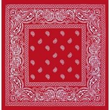 Metal Giyim Kare Bandana 02 Kırmızı