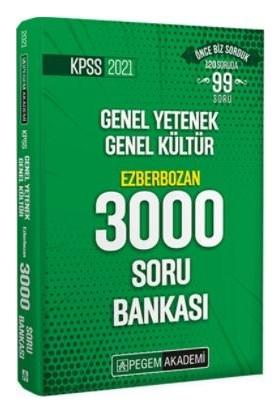 Pegem Akademi 2021 Kpss Genel Yetenek Genel Kültür Ezberbozan 3000 Soru Bankası