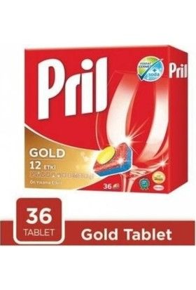 Pril Gold 12 Etki Bulaşık Makinesi Deterjanı 36 Tablet