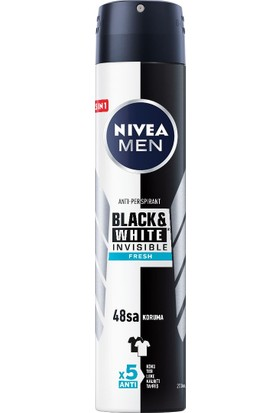 NIVEA MEN Black&White Fresh Erkek Deodorant Sprey 200 ml