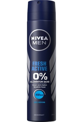 NIVEA MEN Fresh Active Erkek Deodorant Sprey 200 ml