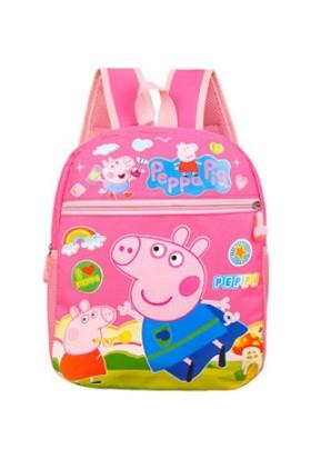 Schulzz Peppa Pig George Sırt Çantası Pembe Anaokulu Çantası