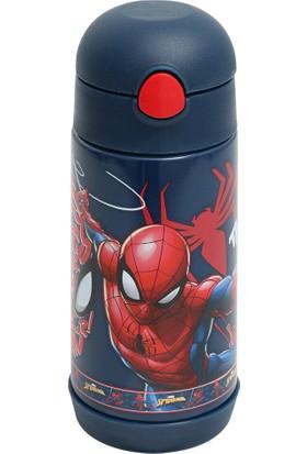 Spiderman Çelik Matara Du Erkek Çocuk Matara Mavi