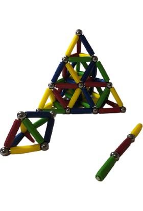 Hdg Manyetik Set 66 Parça - 33 Çelik Bilye + 33 Mıknatıslı Çubuk