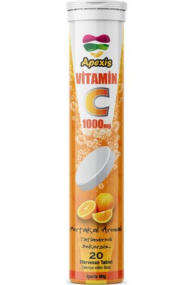 Apexis Vitamin C 20 Efervesan Tablet 4 Adet 1000 Mg